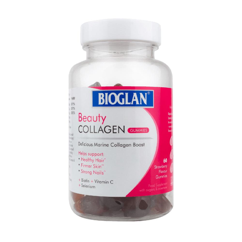 Биоглан Коллаген Желейки для здоровья кожи и волос Bioglan Beauty Collagen Gummies 60
