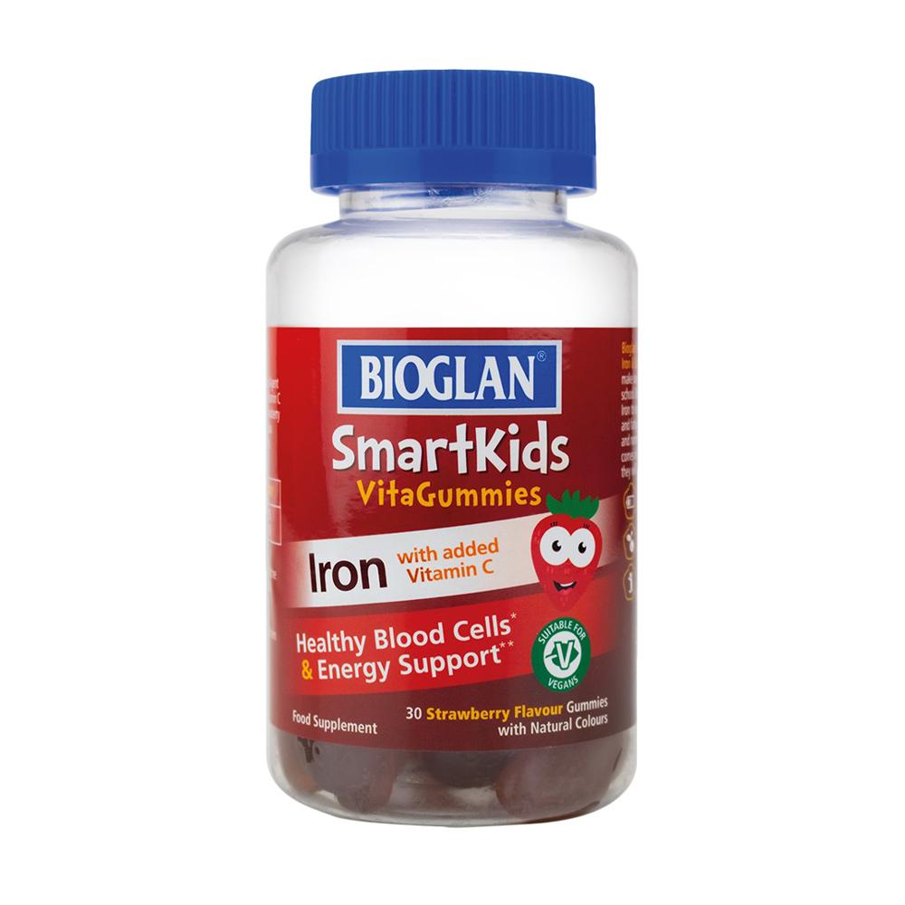 Биоглан Желейки для здорового энергетического обмена детей от 4 лет Bioglan Iron 30