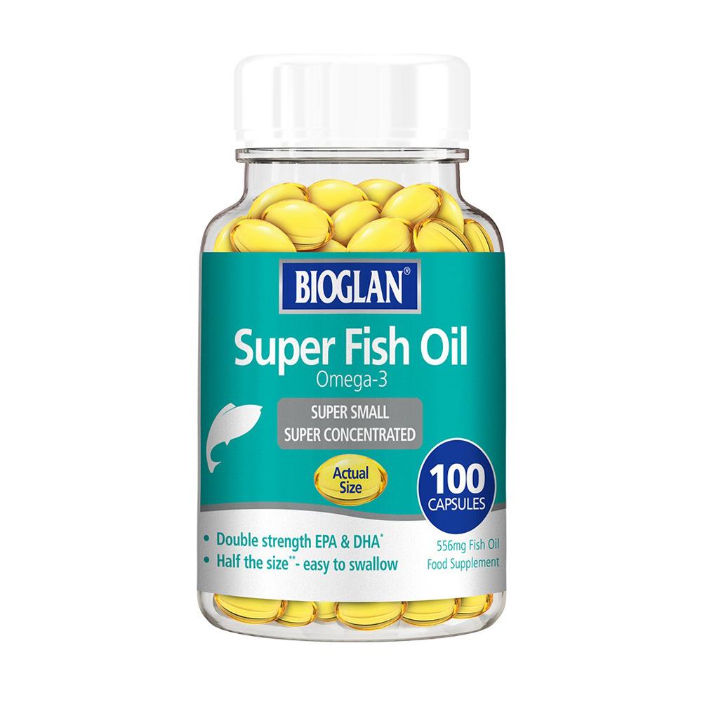 Биоглан Рыбий жир Омега 3 капсулы Bioglan Super Fish Oil 100