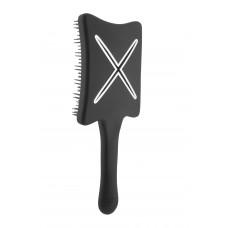 Компактная расческа для сушки феном ikoo paddle X pops beluga black