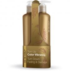 Набор подарочный шампунь восстанавливающий + кондиционер восстанавливающий для окрашенных волос Joico K-pak color therapy duo