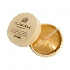 Гидрогелевые патчи для глаз с золотом и улиткой Petitfee Gold and Snail Hydrogel Eye Patch