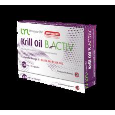 Комплекс полезных жирных кислот Omega-3 и витаминов группы B LYL Krill Oil B Activ