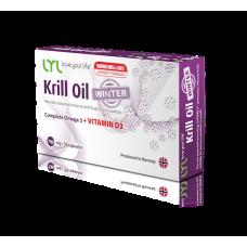 Комплекс полезных жирных кислот Omega-3 и витамина D3 LYL Krill Oil Winter