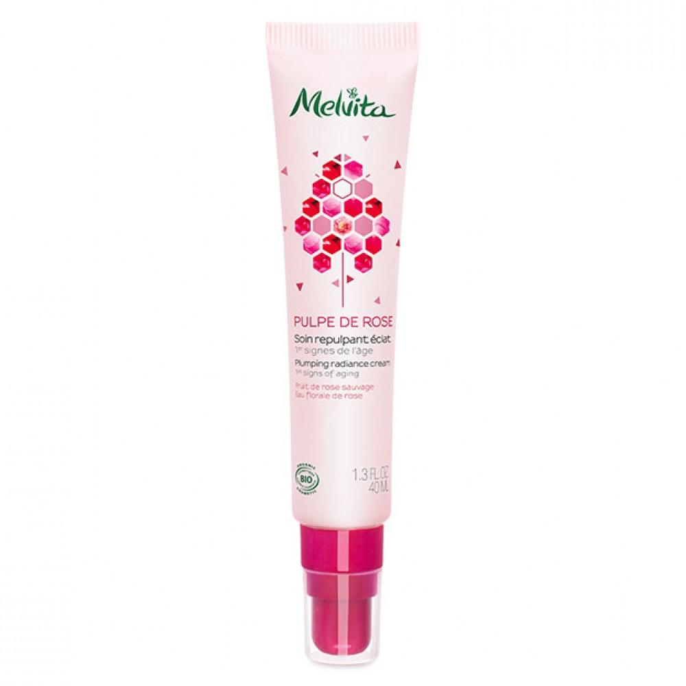 Крем для сияния кожи лица Melvita Pulpe de Rose Organic Plumping Radiance Cream