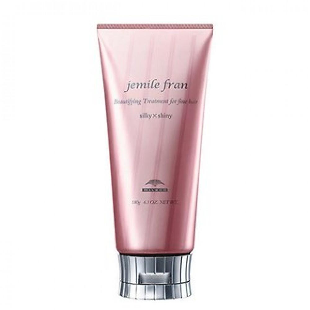 Бальзам-кондиционер для создания шелковистых и блестящих волос Milbon Jemile Fran Treatment Silky+Shiny