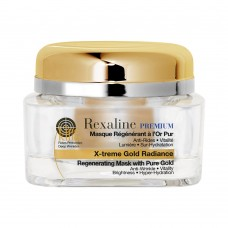 Омолаживающая маска для лица с частицами золота 24K Rexaline PREMIUM LINE-KILLER X-Treme Gold Radiance Mask