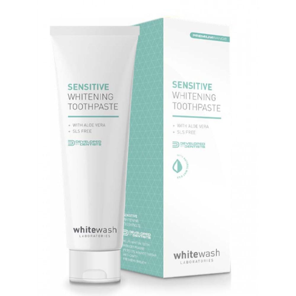 Зубная паста отбеливающая для чувствительных зубов и десен WhiteWash Laboratories Sensitive Whitening Toothpaste