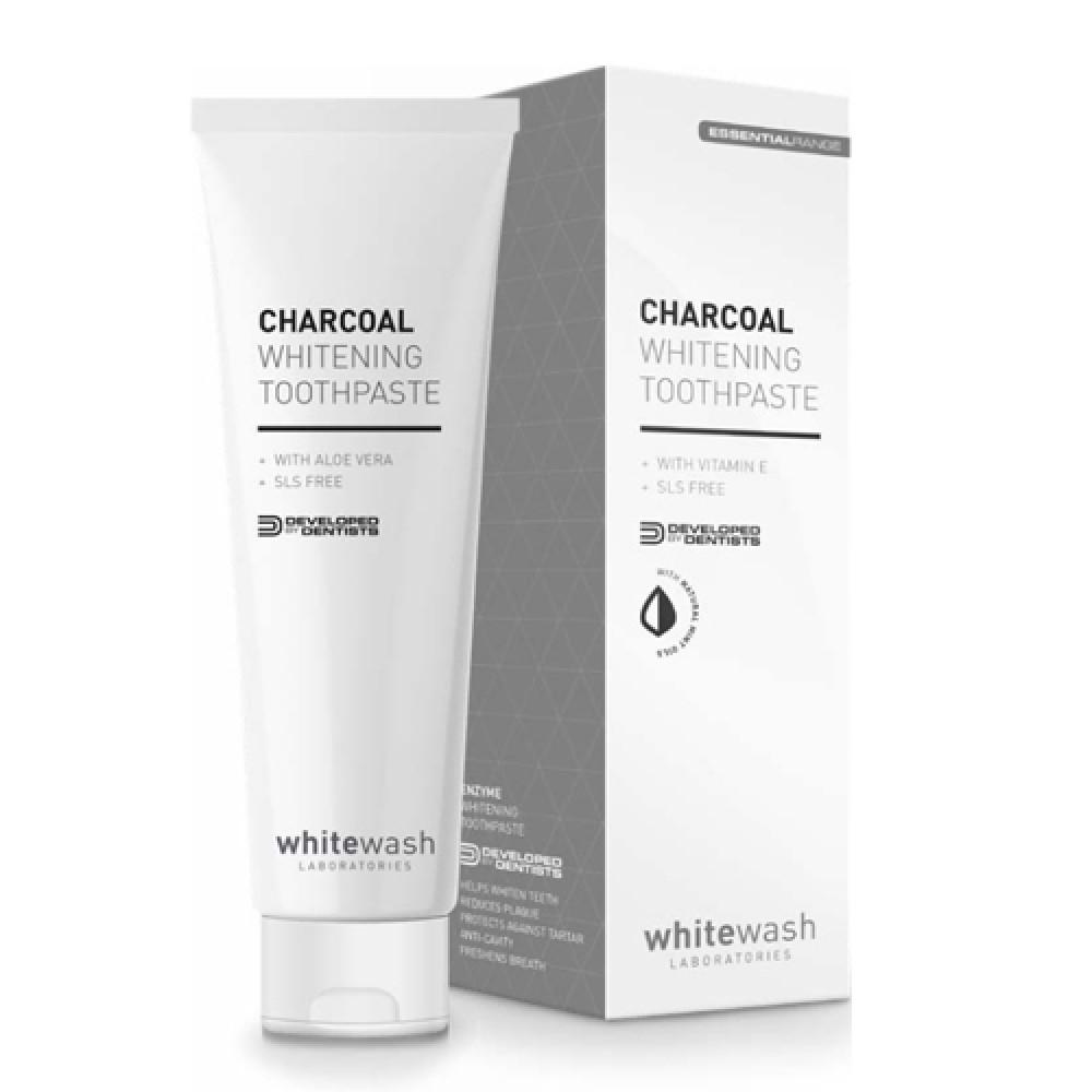 Зубная паста отбеливающая с активированным древесным углем WhiteWash Laboratories Charcoal Whitening Toothpaste