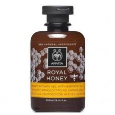 Кремовый гель для душа с эфирными маслами Королевский Мёд Apivita Creamy Shower Gel with Essential Oils