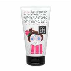 Детский кондиционер для волос с розой и медом Apivita Kids Conditioner
