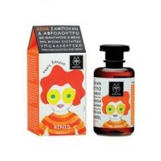 Детское средство для мытья волос и тела с мандарином и медом Apivita Hair & Body Wash with Honey & Tangerine