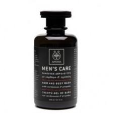 Средство для мытья волос и тела с кардамоном и прополисом MEN'S CARE Apivita Hair and Body Wash