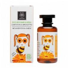 Средство для мытья волос и тела с календулой и медом Apivita Hair & Body Wash