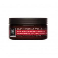 Маска для окрашенных волос с подсолнечником и медом Apivita Color Protection Hair Mask