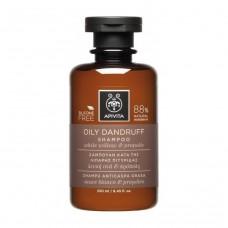 Шампунь от перхоти для жирных волос с белой вербой и прополисом Apivita Oily Dandruff Shampoo