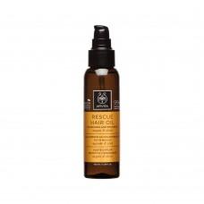 Масло для восстановления и питания волос с арганой и оливками Apivita Rescue Hair Oil