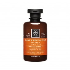 Восстанавливающий шампунь для силы и блеска волос с апельсином и медом Apivita Shine and Revitalizing Shampoo