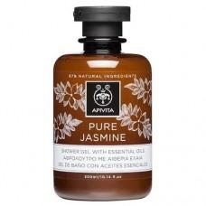 Гель для душа с эфирными маслами Чистый Жасмин Apivita Shower Gel with Essential Oils