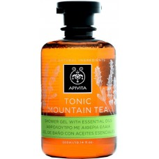Гель для душа с эфирными маслами Тонизирующий Горный Чай Apivita Shower Gel with Essential Oils Tonic Mountain Tea