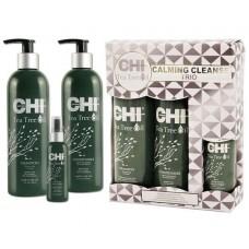 Набор с маслом чайного дерева CHI Tea Tree Oil Calming Cleanse Trio