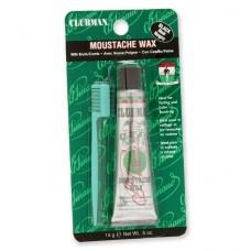 Воск для укладки и подкрашивания бороды с щеточкой Clubman Moustache Wax