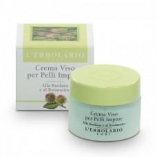 Крем для лица с Репейником и Розмарином L'Erbolario Crema Viso per Pelli Impure