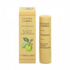 Витаминный блеск для губ на базе яблочного сока и мандарина L'Erbolario Lucidalabbra Vitaminico