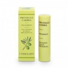 Защитный бальзам для губ с оливковым маслом и маслом чайного дерева L'Erbolario Proteggilabbra Balsamico