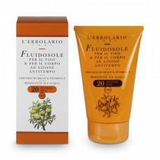 Молочко для загара лица и тела с маслом Аргании и витамином Е SPF 20 L'Erbolario Antitempo Con Olio di Argan And Vitamina E