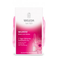 Разглаживающий концентрат с маслом розы москеты Weleda Wildrose 7 Tage Glättenden Schönheits-Kur