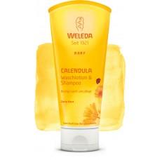 Шампунь-гель для волос и тела Календула Weleda Calendula Waschlotion & Shampoo