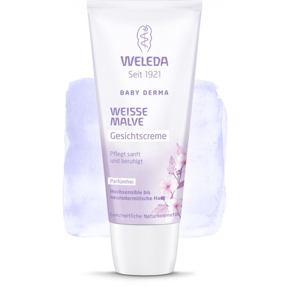 Крем детский для лица для  гиперчувствительной кожи с Алтеем Weleda Weisse Malve Gesichtscreme