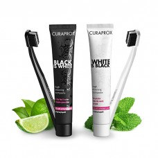 Набор Curaprox Black is White отбеливающая паста + щетка